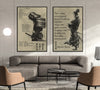 SA021 + SA054 - 7 5 3 CODE - Outside Of Yourself - Home Decoration - Samurai Poster