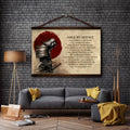 SA094 - Make No Mistake - English - Samurai Canvas With The Wood Frame