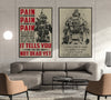 SD019 + SD033 - I'm Not Going To Lose - PAIN - Home Decoration - Soldier Poster
