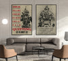 SD019 + SD032 - I'm Not Going To Lose - Quitting Is Not - Home Decoration - Soldier Poster