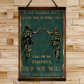 SD040 - Call On Me Brother - English - Soldier Canvas With The Wood Frame