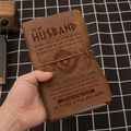 VKN025 (JT86) - To My Husband - I'm So Happy That - Vintage Journal - Viking Notebook