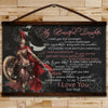 WA105 - My Beautiful Daughter - Mom To Daughter - Warrior Canvas With The Wood Frame