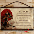 WA106 - I Choose - English - Warrior Canvas With The Wood Frame
