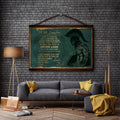 WA115 - Dad To Daughter - Never Lose - English - Warrior Canvas With The Wood Frame