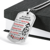 Warrior - Spartan - Always remember - You Are Braver - Stronger - Smarter - Loved 2 - Military Ball Chain - Luxury Dog Tag