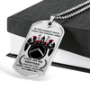 Warrior - Spartan - Call On Me Brother - English - Military Ball Chain - Luxury Dog Tag