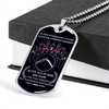 Warrior - Spartan - Call On Me Brother - German - Black - Military Ball Chain - Luxury Dog Tag