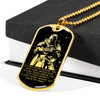 Knight Templar - IF - Show No Mercy - Galaxy - Military Ball Chain - Luxury 18K GOLD Dog Tag