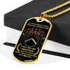 Warrior - Spartan - Call On Me Brother - English - Galaxy - Military Ball Chain - Luxury 18K GOLD Dog Tag