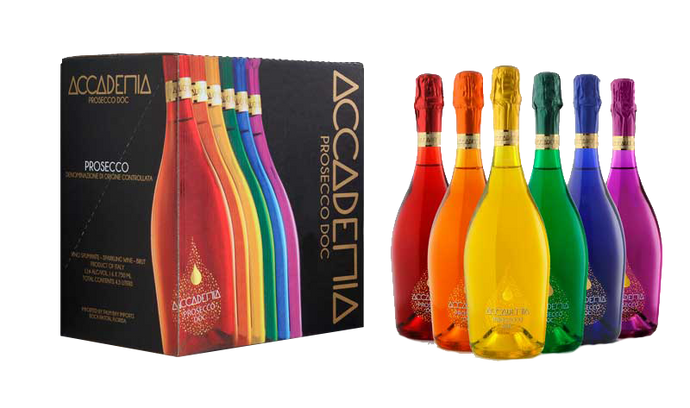 RAINBOW PROSECCO x 6 75cl bottles (by Bottega Limited edition)