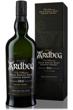 Load image into Gallery viewer, Ardbeg 10 Year Old Single Malt Scotch Whiskey 70cl
