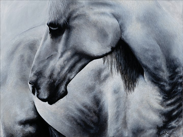 "Acrylic on canvas, 18""x24"".   Modern art with a personalized take on realism. I absolutely loved producing this animal portrait. Original acrylic painting by Brittany Rhoads."