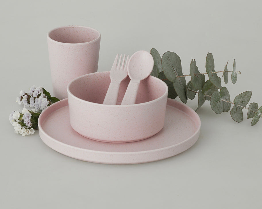 Children's Bamboo Dinnerware Set