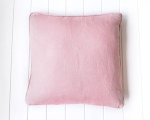Line Feather Cushion - Pink