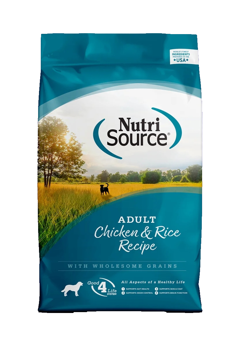 Nutri Source Adult Chicken & Rice Recipe  (5 Lb, 15 Lb y 30 Lb)
