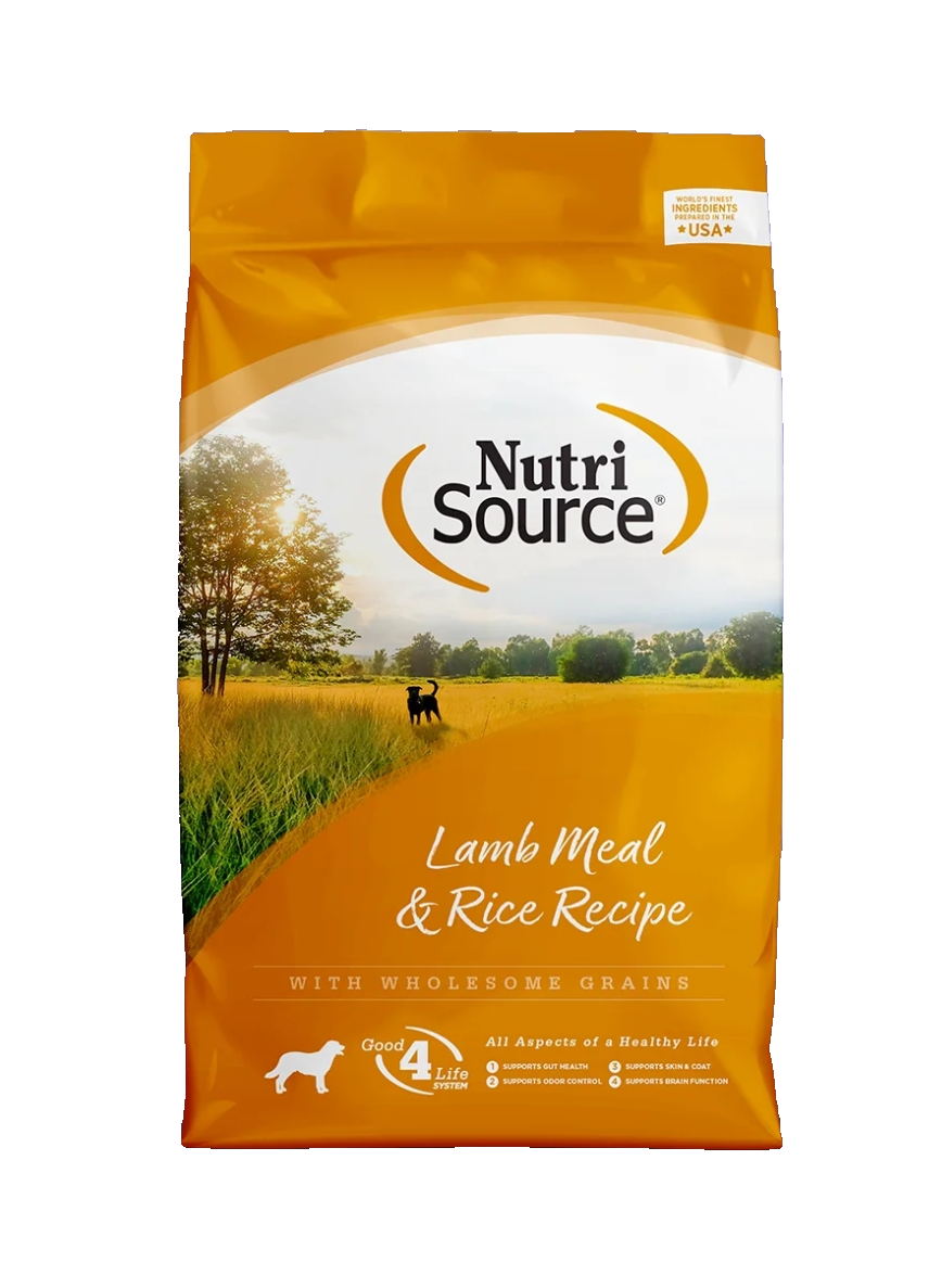 NutriSource Adult Lamb Meal & Rice  (5 Lb, 15 Lb y 30 Lb)