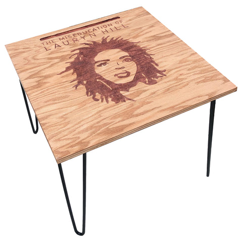 Lauryn Hill Engraved End Table