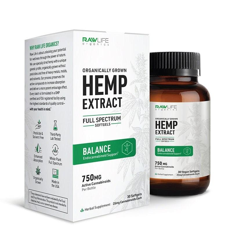 25MG Full Spectrum Balance Softgels (30 CT) - HempWholesaler.com