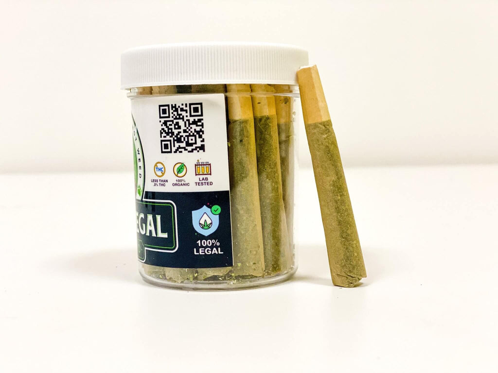 "Bearly Legal Hemp - ""CupHolder"" Jar - 10 Hemp Joints"