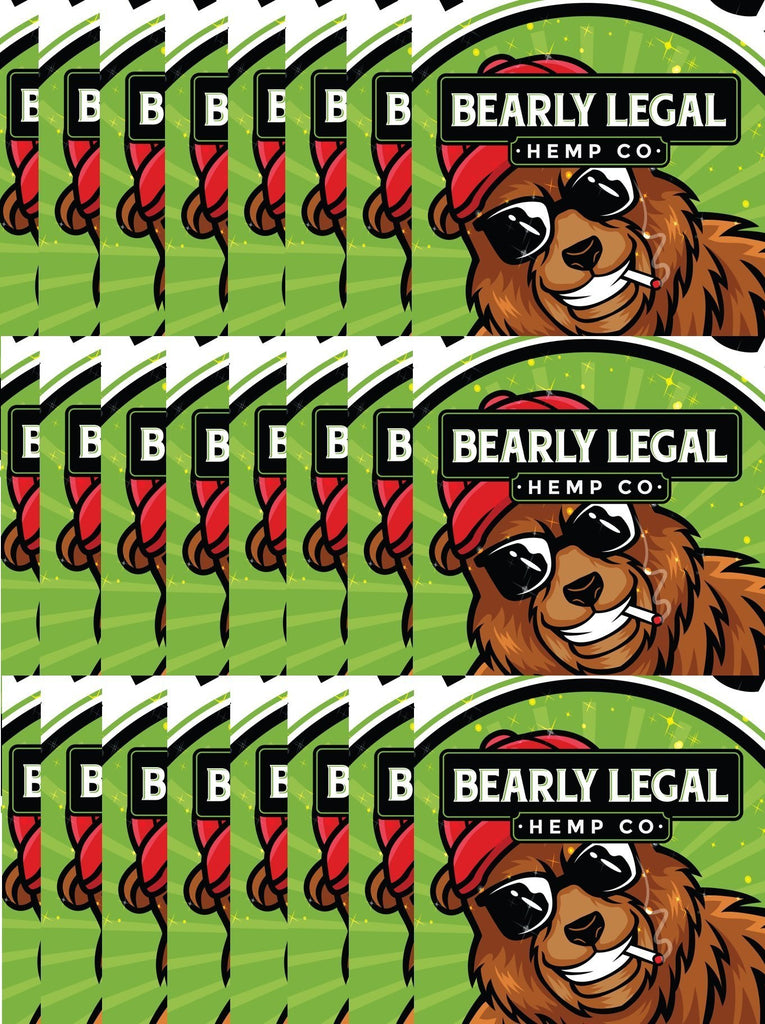 Bearly Legal D8 THC 25mg Gummies - (Master Case 12-24 packs) - Green Apple FREE Express Shipping - HempWholesaler.com