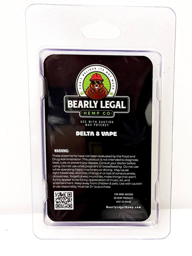 Bearly Legal - Delta-8 Ceramic Vape Cart Tank 1ml - Blueberry - HempWholesaler.com