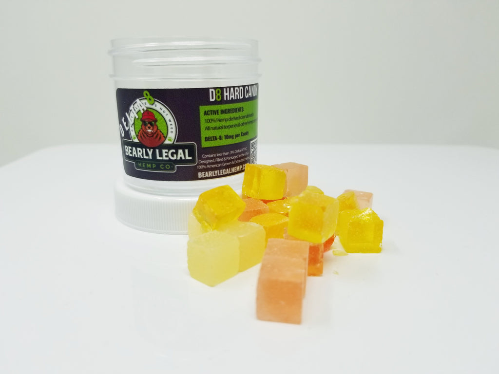 Bearly Legal Delta 8 Mixed Fruits Hard Candies - 10mg - 20ct - HempWholesaler.com