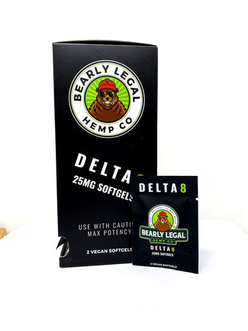 Bearly Legal - Delta 8 Softgels Tower (30 packs of 2) - HempWholesaler.com