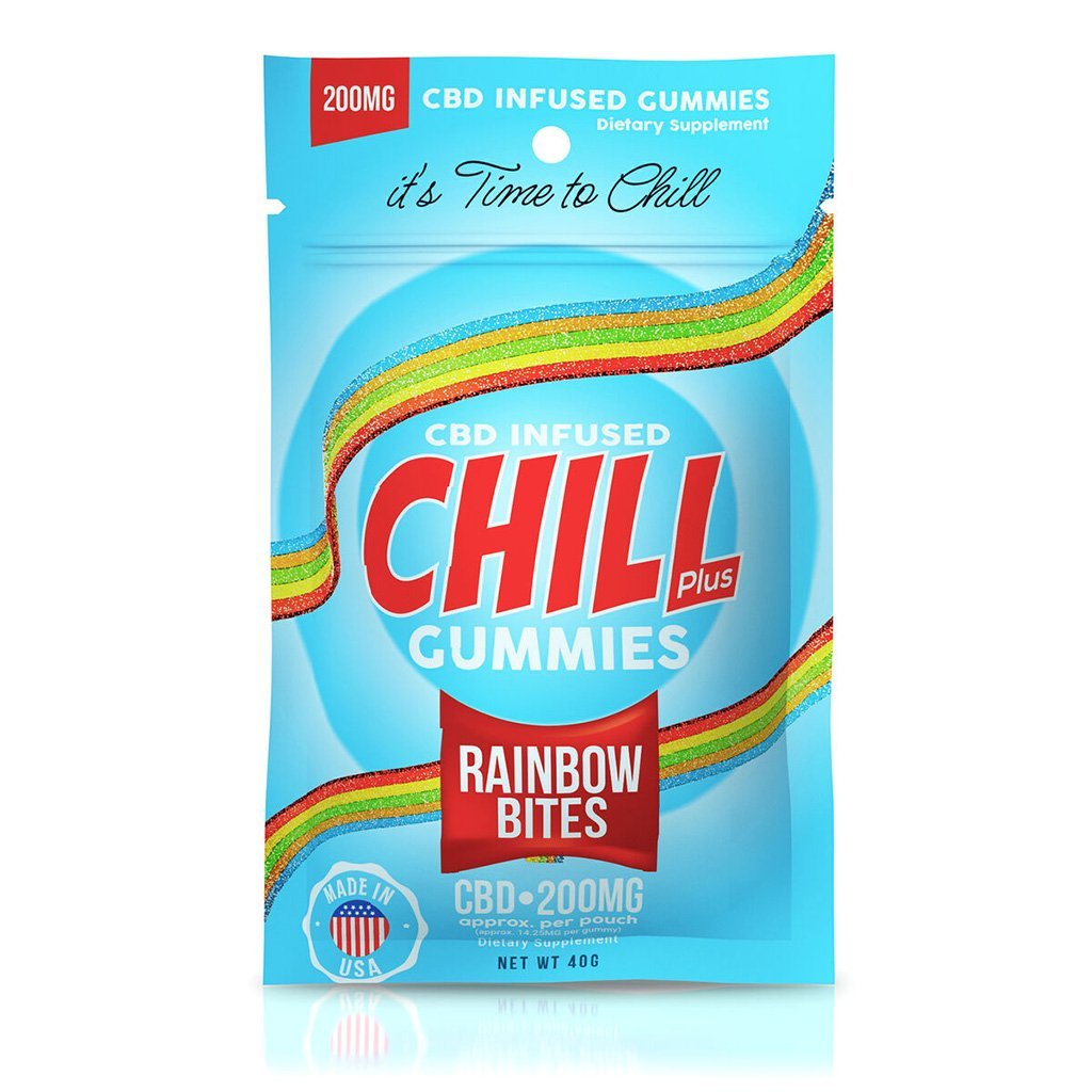 Chill Plus CBD Infused Gummies - 200mg Pouch - HempWholesaler.com