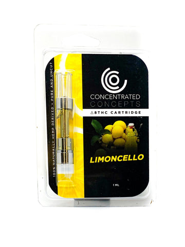 Concentrated Concepts Delta-8 THC D8 Vape Cartridge - Limoncello - HempWholesaler.com
