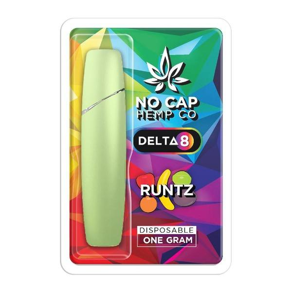 Delta 8 THC Disposable Vape by No Cap Hemp Co - Runtz - HempWholesaler.com