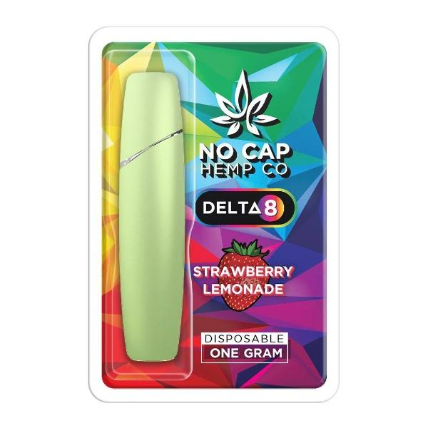 Delta 8 THC Disposable Vape by No Cap Hemp Co - Strawberry Lemonade - HempWholesaler.com