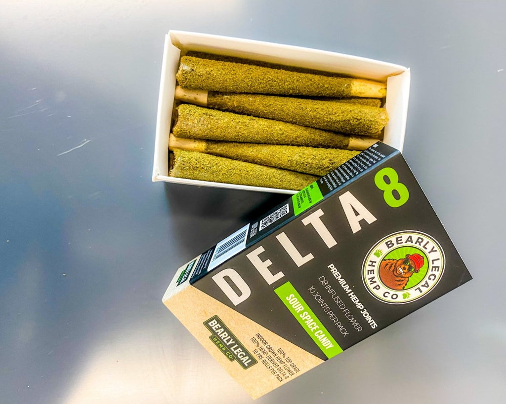 Delta 8 THC Infused Keif Joints King Size (10 per Pack) - HempWholesaler.com