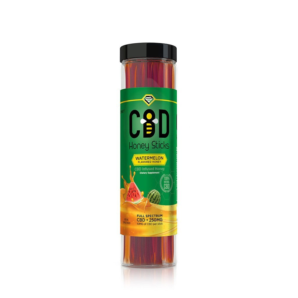 Diamond CBD Honeysticks - 25 Pack Jar - HempWholesaler.com