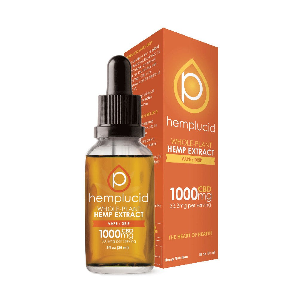 Hemplucid Vape/Drip Whole Plant Extract 30ml Bottle - HempWholesaler.com