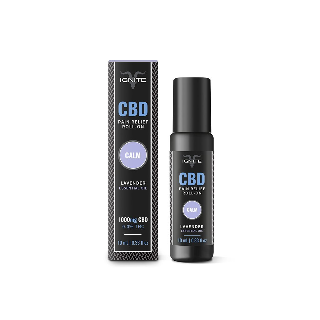 Ignite CBD Roll On Oils 10ml Bottle - 1000mg - HempWholesaler.com