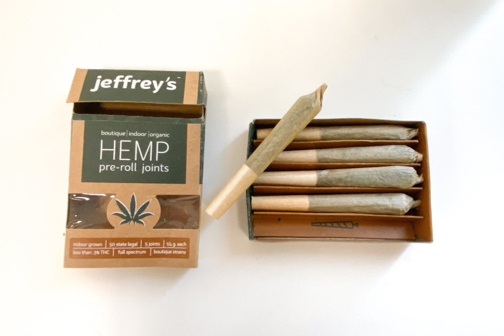 Jeffrey's Organic Hemp Prerolls - 9 Pack Display - HempWholesaler.com
