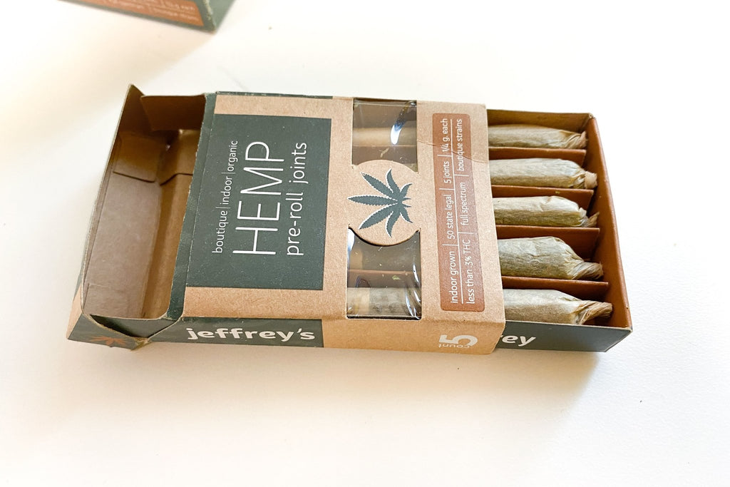 Jeffrey's Organic Hemp Prerolls - Single Pack - HempWholesaler.com