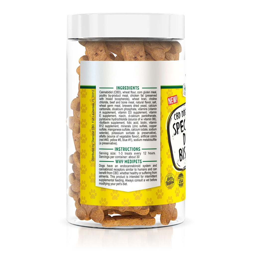 MediPets CBD Dog Treats 100mg Jar ( Full Spectrum) - HempWholesaler.com