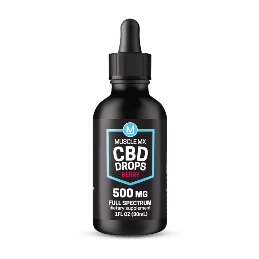 Muscle MX CBD Drops - Berry - 30ml Bottle - HempWholesaler.com