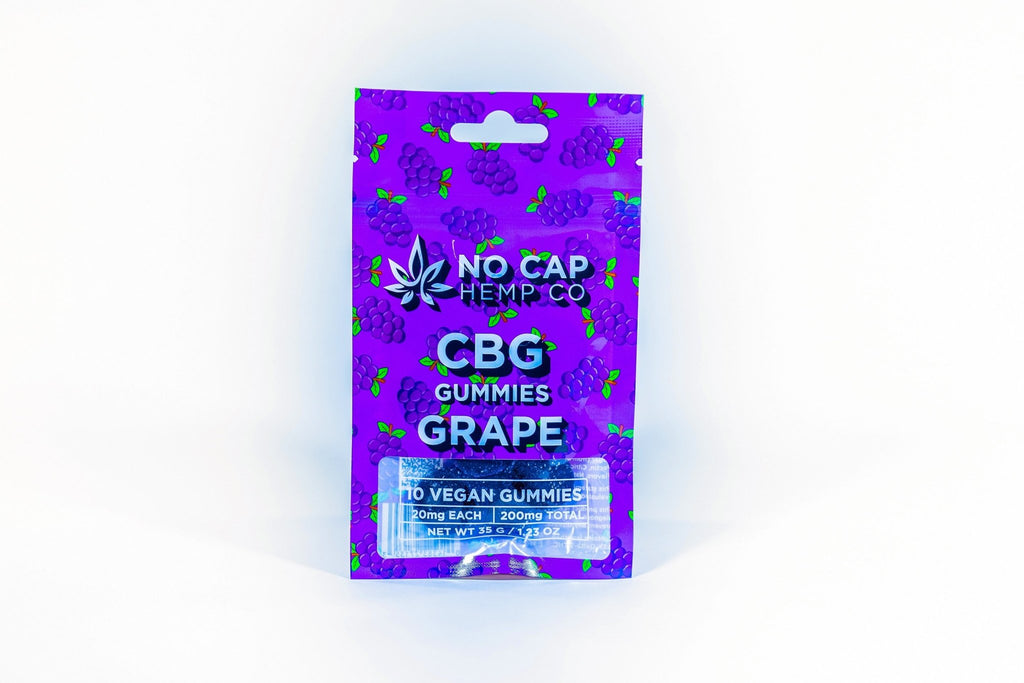 No Cap Hemp Co - CBG Gummies - Grape - HempWholesaler.com