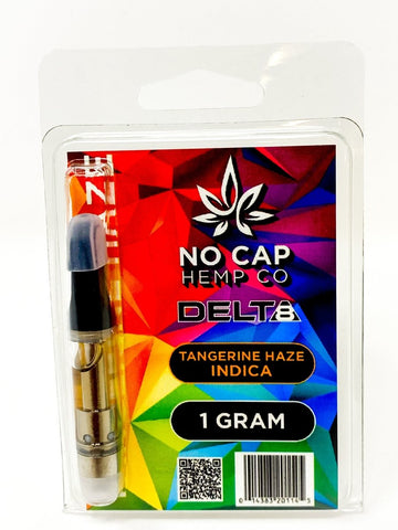 No Cap Hemp Co. Delta 8 THC Vape Cartridge 1ml - Tangerine Haze - HempWholesaler.com