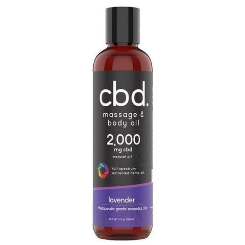 Phoria CBD Massage Oil 2000mg (4oz & 8oz) Bottle - HempWholesaler.com