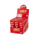Vibes Pre Rolled Cones - King Size - Hemp Paper - 30 Pack - HempWholesaler.com