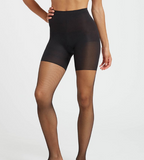 Spanx Micro-Fishnet Mid-Thigh Shaping Tights 963