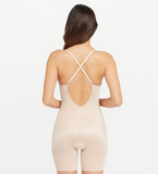 Spanx Suit Your Fancy Plunge Low-Back Mid-Thigh Bodysuit 10157R