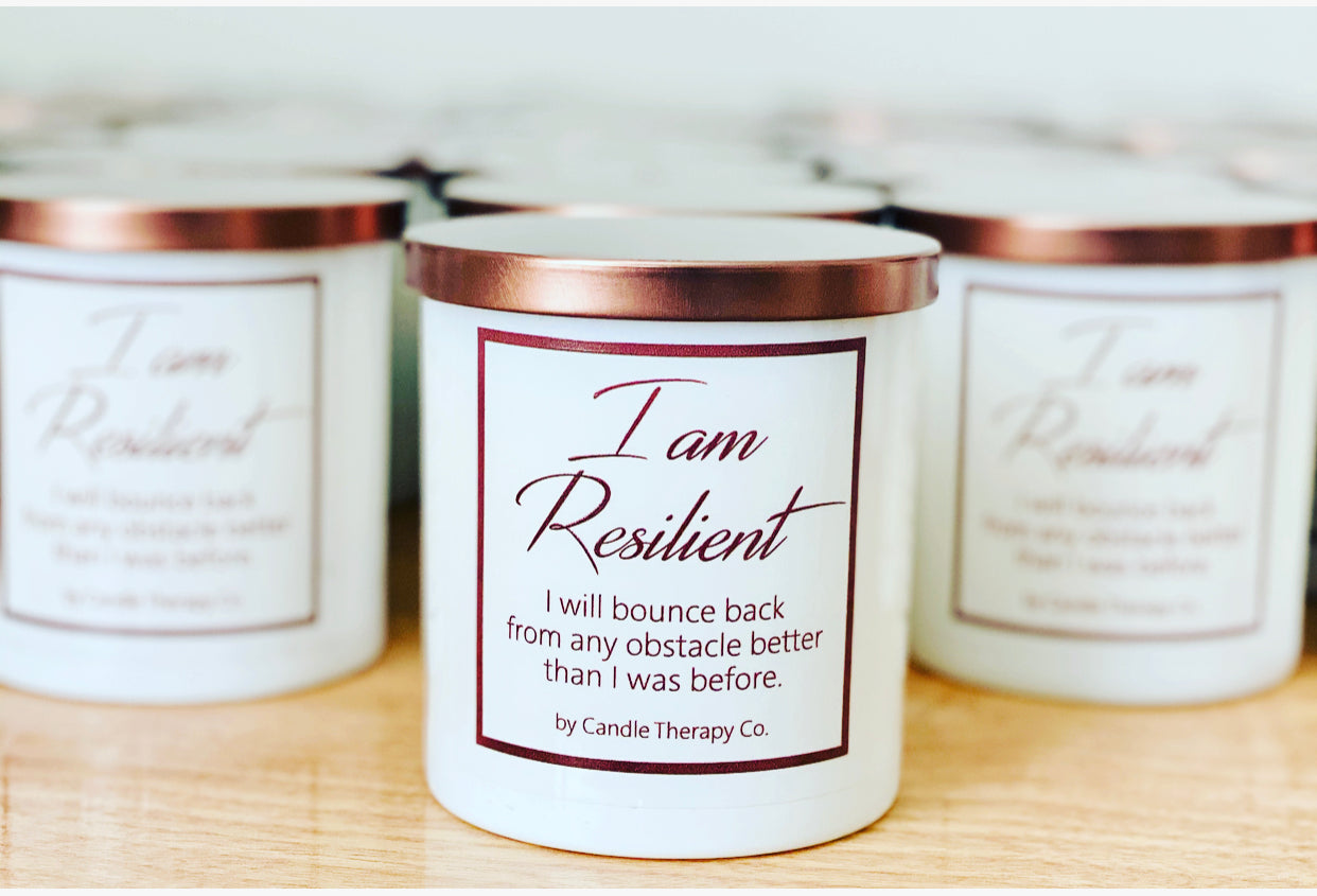 Daily Affirmation Candle- I am Resilient