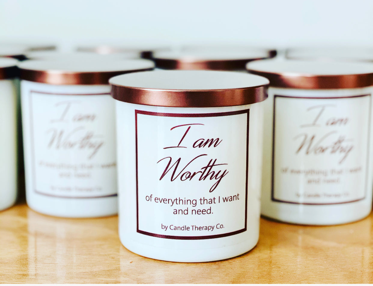 Daily Affirmation Candle - I am Worthy