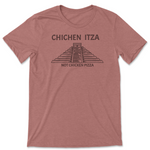 "Chichen ""Not Chicken Pizza"" Unisex Heather Mauve T-Shirt"