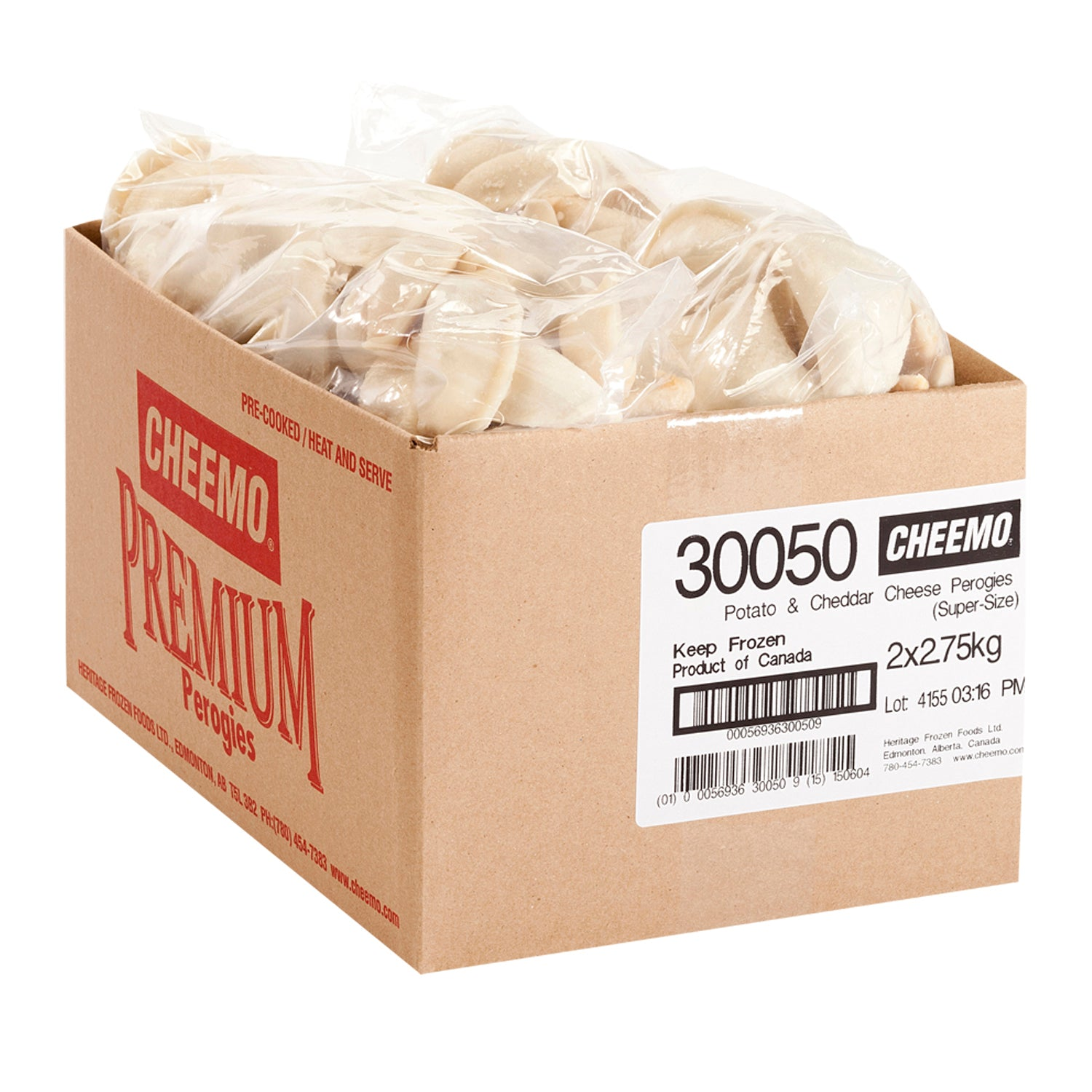 Cheemo Frozen Potato and Cheese Perogies 5.5 kg - 1 Pack [$3.09/kg]